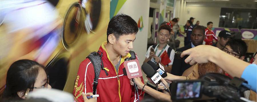 Río 2016: Equipo chino de natación llega a la ciudad olímpica