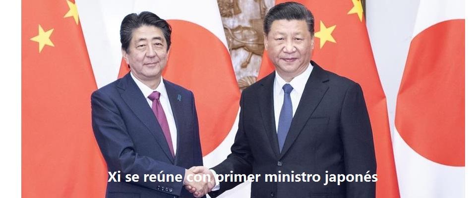 Xi se reúne con primer ministro japonés